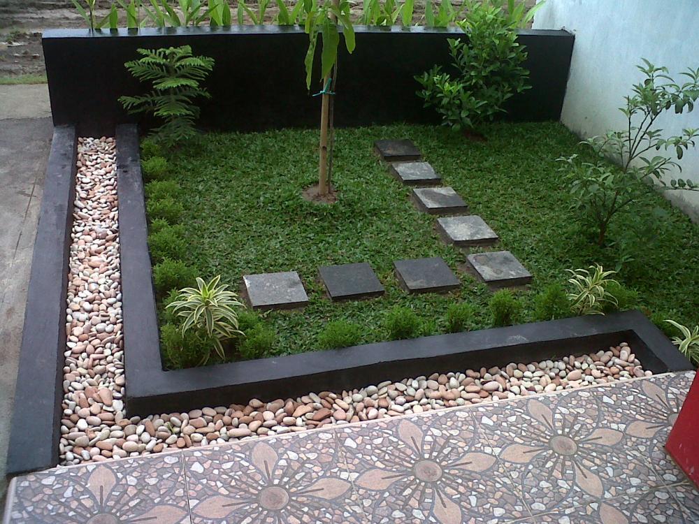 taman rumah, minimalis